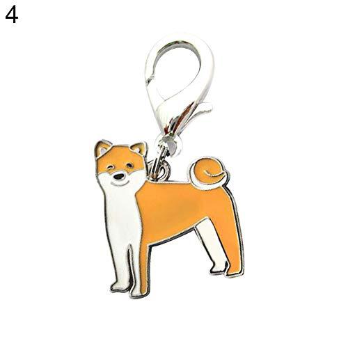 gzzebo Fashion Cute Pet Halsband Anhänger Hund Schlüsselkette Handtasche Geldbeutel Deko zum Aufhängen, Metall, 4#