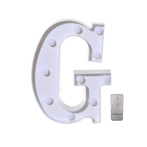 Alphabet Buchstabe Lights dekorative LED Fernbedienungs Alphabet Leuchten weiße Plastik Buchstaben Standin (22cm/8.7