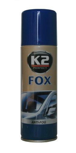 K2 Fox Antibeschlag Spray, Auto Fenster, gute Sicht im Winter durch die Scheibe, Spray 200ml