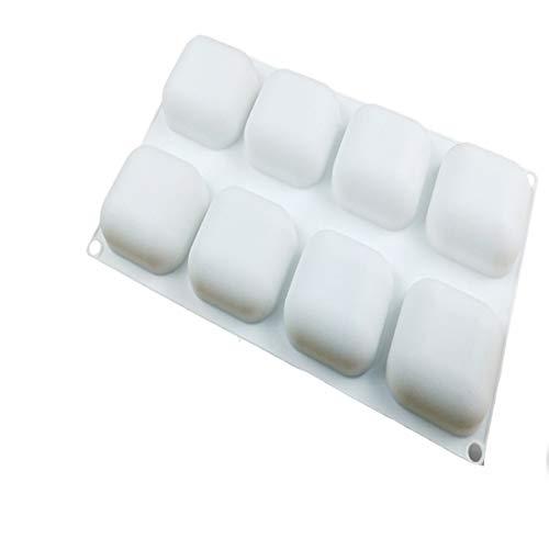 LASTARTS 8 auch Stein silikon Mousse kuchenform DIY backen kuchenform kuchenform silikon eierkocher Butter Formen einfach sauber süßigkeiten Formen backen Werkzeuge (Farbe : White)