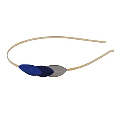 Serre Tête PLUM Night Pétales Cuir Bleu électrique Anémone Etain Accessoire Cheveux Clémence Cabanes