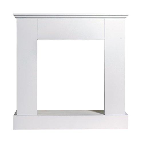 Rebecca Mobili Marco Chimenea Adornos Madera Blanco Design Moderno Pasillo Salon (Cod....