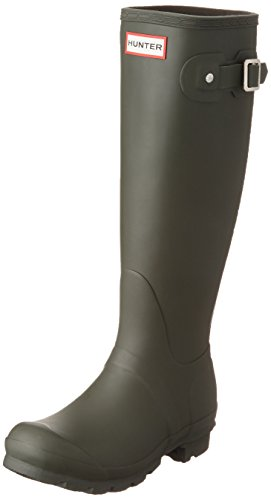 Hunter WOMENS ORG TALL WFT1000RMA-DOV, Damen Gummistiefel, Grün (Dark Olive), 41 EU (7 UK) (Damen Hunter)