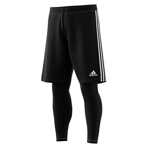 adidas Herren TIRO19 2in1 Shorts Black/White M