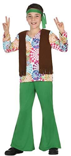 üm 1960er Jahre Hippie Hippie Karneval Buchtag Kostüm Outfit 3-12 Jahre ()