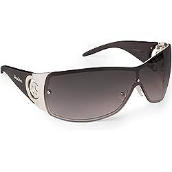 Verdster Gafas De Sol Gran Tamaño Mujeres- Aptos para Conducir - Montura Envolvente con Protección UV - Incluye un estuche, funda y un pañuelo - Coffee