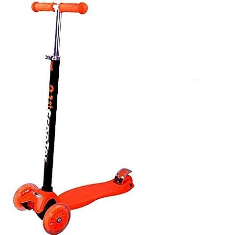 Tante Tina - Pasola / Patinete para niños con ruedas luminosas - De 3 ruedas - Naranja