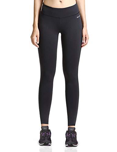 Baleaf Damen Leggings Ladies Yoga Fitness lange EngeRunning Hose Dünn Yogahosen Jogginghose Sport und Training Schwarz Größe L
