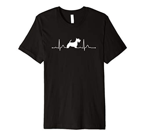 Scottish Terrier T-shirt (Scottish Terrier Heartbeat Herzschlag Hunde T-Shirt Shirt)