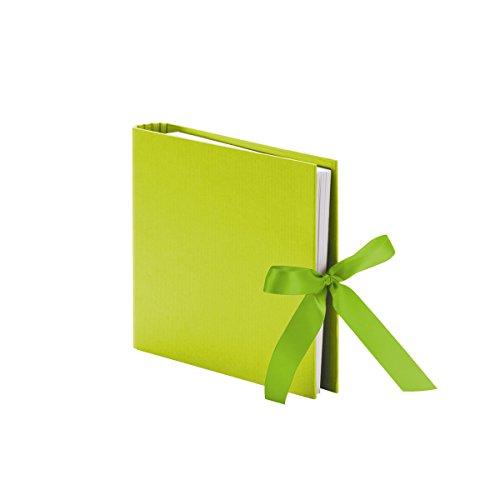 Rössler 13161147226 Fotoringbuch mit Schleife S.O.H.O, 230 x 210 mm, 50 Seiten, Limette, 1 Stück