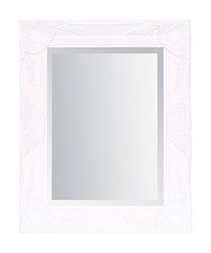 Select Spiegel Haywood Wandspiegel–French Vintage, Rokoko Barock Stil–Weiß–42cm...