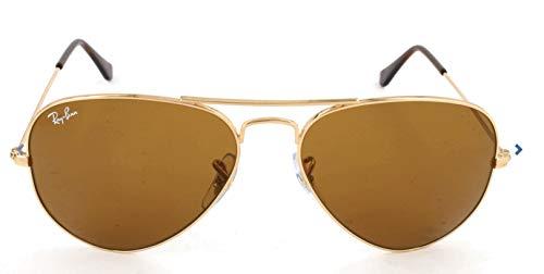Ray Ban Unisex Sonnenbrille Aviator Classic, Gr. X-Large (Herstellergröße: 62), Braun (Gestell: Gold, Gläser: Kristall Braun  ) (Ray-ban Aviator Classic Gold)