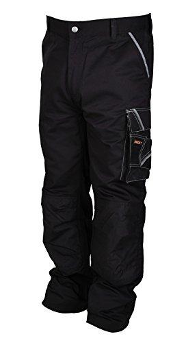 Iwea Stabile Arbeitshose Bundhose Berufshose Handwerker Cargohose Arbeitskleidung Grau IW063 (52/54 (L), Schwarz)