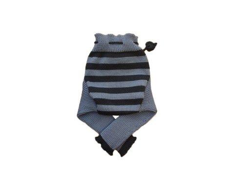 100% lana merino-Copripannolino longies irrigazione Sky blue-Dark blue L