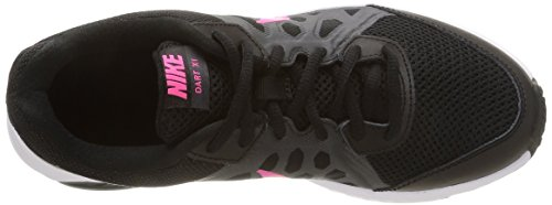 Nike Dart 11, Running femme Noir (Black/Pink Power/Anthracite/White 004)