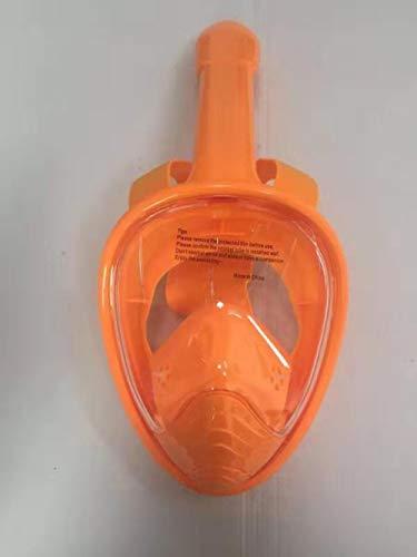 MHP Tauchmasken Schnorchelsets,180° Sichtfeld und Kamerahaltung,für Kinder und Erwachsene,Schwimmausrüstung für Kinder Anti-Fog-Volltrocken-Schnorchelmaske@Orange_XL