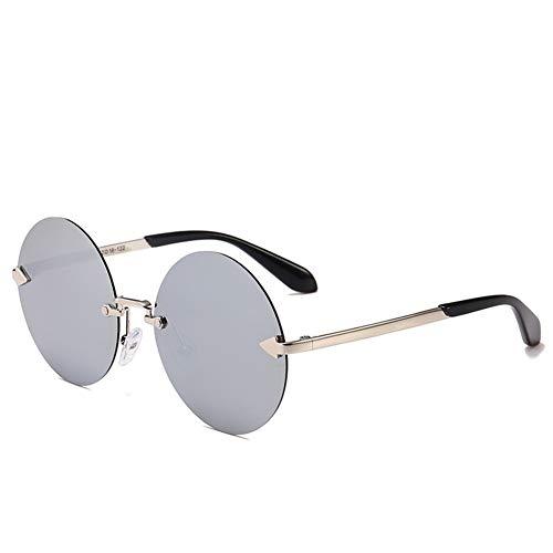 Sonnenbrille Anti-UV Metall Sonnenbrille Sonnenbrille Schirm Licht Qualität Material geeignet für Reisen und Fahren Gr. 42, mercury