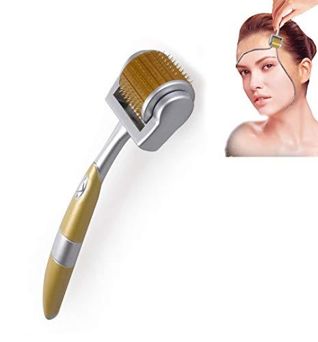 Bartwachstum & Nachwachsen der Haare Micro-Needling Roller Anti-Hair Loss-Behandlung Ausdünnen des Haares,Gold,2.0mm -