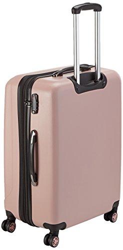 Packenger Koffer - Velvet (XL), Mauve, 4 Doppelrollen, 112 Liter, 72cm, Koffer mit TSA-Schloss, Erweiterbarer Hartschalenkoffer (ABS) robuster Trolley Reisekoffer - 3