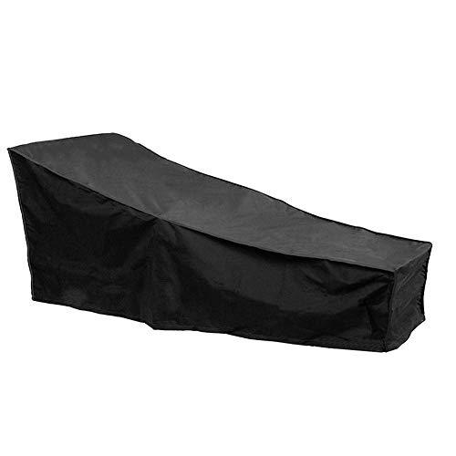 Terrassenmöbel Abdeckung Chaise Lounge Cover Möbel wasserdichte Abdeckung reißfest, UV-beständig, langlebig staubdicht Outdoor-Abdeckung für Garten Outdoor-Möbel Abdeckung (82,6 29,5 15,7 Zoll) (Chaise-abdeckung)
