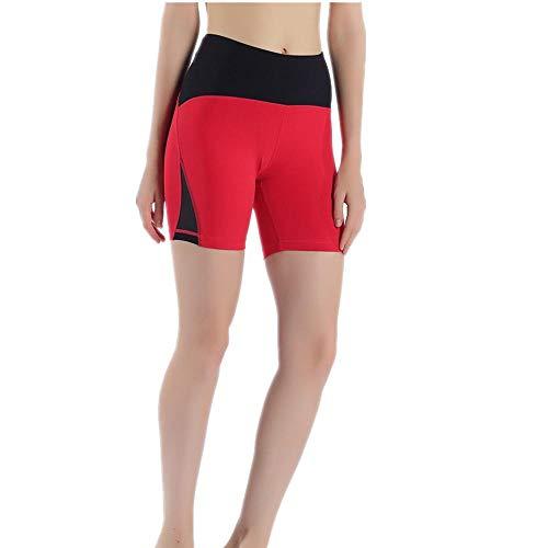 NYSLTC Yoga-Shorts Sommersport Fitness-Shorts Damen schnell trocknende Fitnesshose Laufsport Damen rot XL -