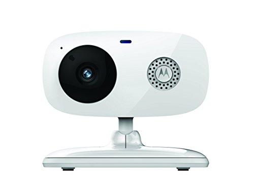 Motorola FOCUS 66 - Caméra de surveillance Wi-Fi avec fonction talkie-walkie et vision nocturne infrarouge, blanc