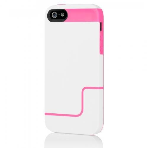 Incipio IPH-831 Edge Pro Hard Case für Apple iPhone 5/5S/SE weiß/neonrosa Incipio Edge Pro Iphone