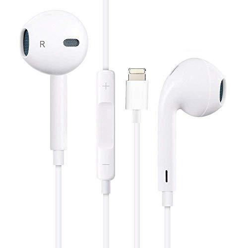 Ohrhörer mit Mikrofon und Fernbedienung, Premium Ohrhörer Stereo Kopfhörer für iPhone XS Max, XS, X, 8,7/8 Plus, 7 Plus (Weiß) thumbnail