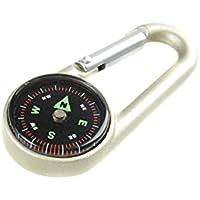 """LAGERRÃ""""UMUNG! Huntington CTC-01 Karabinerhaken-Kompass und Thermometer, professionell flüssigkeitsgedämpfte Anzeige im Metallgehäuse (DC27T2 DE)"""
