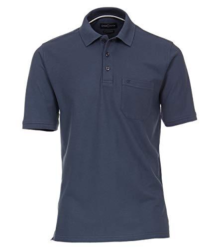 CASAMODA Herren Polo-Shirt unifarben 004370 Brusttasche - Button-down Polo Shirt Gestreift