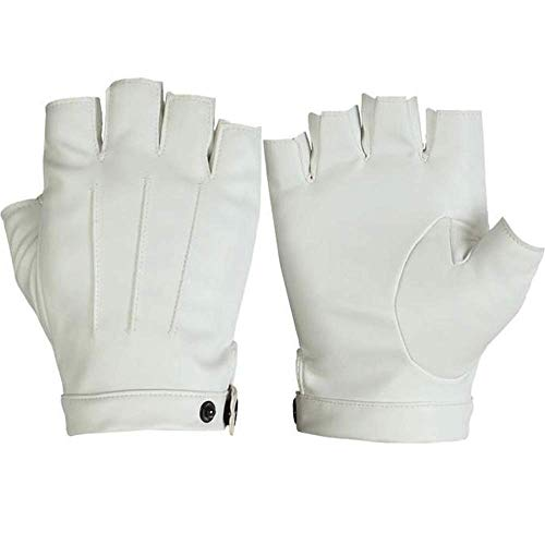 Fl-56794 mezza finger outdoor sports ride guida guanti per attrezzature per l'allenamento di alpinismo (color : bianca)