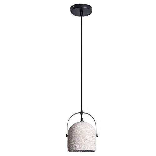 ♪ Zement Kronleuchter Retro Beton Deckenleuchte LOFT Schmiedeeisen LED Licht Kreative Persönlichkeit Granit Transluzent Warmlicht Innenbeleuchtung Restaurant Schlafzimmer Wohnzimmer Nachttischlampe, S - Granit-pendelleuchte