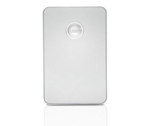 G-TECH G-DRIVE mobile USB 1TB Silber HDD USB3.0 6,4cm 2,5Zoll RETAIL external slim Design Metal case G-TECH GDMOU3EA10001ADB