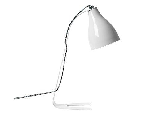Leitmotiv Barefoot Design Metall Tisch, 40 W, Weiß, Höhe 40 cm, Durchmesser 20 cm