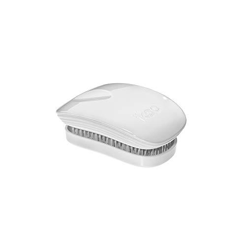 ikoo Pocket White Classic - Detangler Bürste, Haarbürste für die Handtasche, Brush, weiche Borsten, Entwirrbürste für lange Haare, Massage Wet Brush, Entwirrungsbürste, einfaches Entwirren der Haare - Pocket Hair Brush