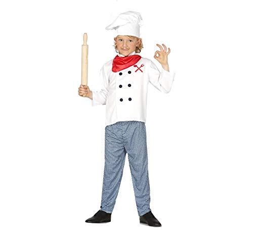 Guirca-83362 Disfraz 5-6 años Cocinero, Multicolor (83362)