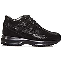 Hogan Interactive Sneakers Donna Scarpa Allacciata Nera 9b6193640c1