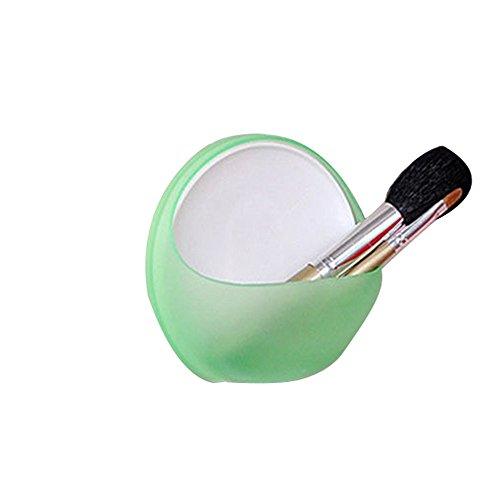 TianranRT Kunststoff Sauger Becher Seife Zahnbürste Box Schüssel Halter Bad Dusche Zubehör WH (Grün) -