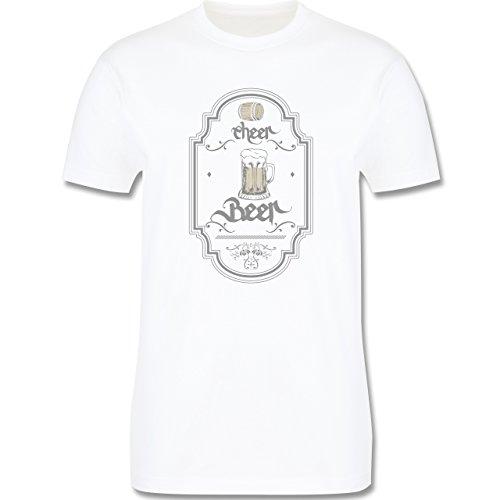 Statement Shirts - Cheer Beer - Herren Premium T-Shirt Weiß