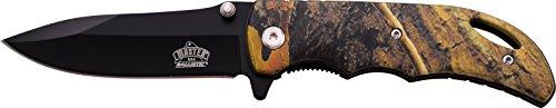 MASTER USA Taschenmesser MU-A029 Serie, Messer GRÜN CAMO DESIGN Griff, scharfes Jagdmesser, Outdoormesser 8,9 cm ROSTFREI Klinge, Klappmesser für  Angeln/ Camping