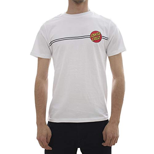 Santa Cruz Weiß Og Classic Dot T-Shirt (Medium, Weiß) (Santa-t-shirt)