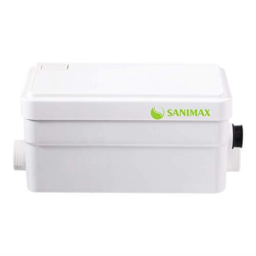 Sanimax Hebeanlage Sehr Leise Pumpe Abwasser Haushaltspumpe Duschpumpe mit 2 Einlässen 250W