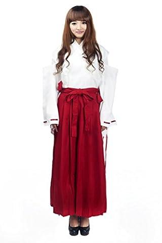 Mtxc Femmes Inuyasha Cosplay Costume Kikyou Shrine Kimono Taille X-Small Rouge
