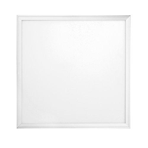 sevenon LED 64406 Panneau LED SMD Ultraslim carré intégré, 36 W, Blanc mat, 59,5 x 2 cm (côté x haut)