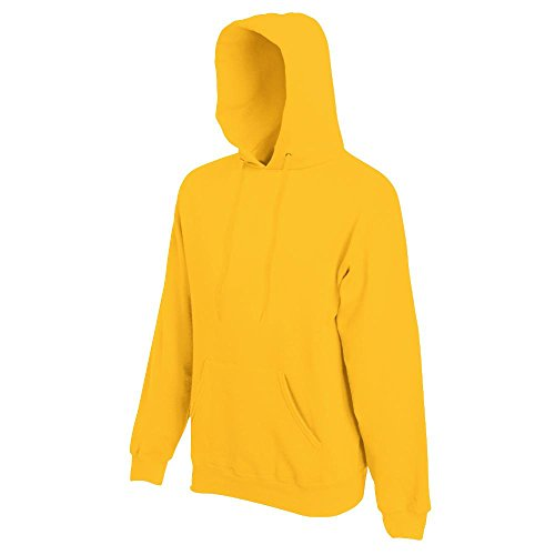 Fruit of the Loom Herren Kapuzen-Sweatshirt 62-208-0 Sunflower L Gelber Hoodie Sweatshirt