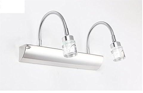 Led-Kristalllampe / Lampe / Edelstahlbadezimmer Wasserdichte Anti-Nebel-Spiegellampe , 2 Heads,2 heads