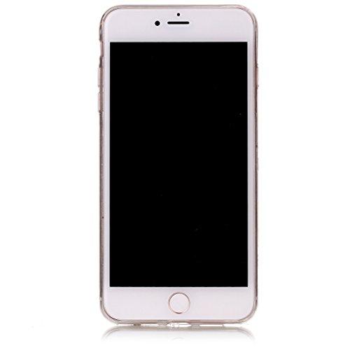 iPhone 7 Plus Hülle,Mo-Beauty® Schwarz Marmor Serie Flexible TPU Silikon Schutz Handy Hülle Handytasche HandyHülle Etui Schale Case Cover Tasche Schutzhülle für iPhone 7 Plus (5,5 Zoll) + 1 x Displays Schwarz