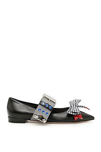 Miu-Miu-Womens-5F684BXUIF0N11-Black-Leather-Flats