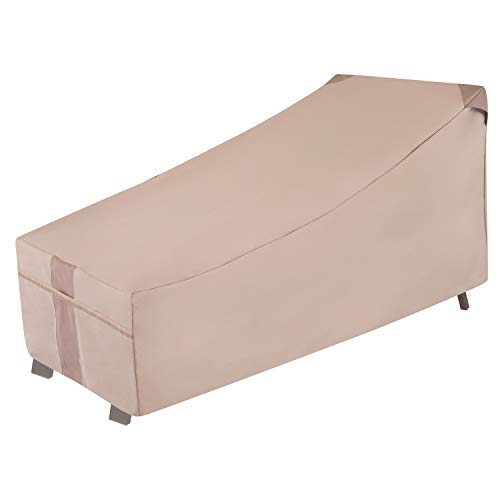 Modern Leisure 2909 Monterey Day Chaise Lounge Chair Cover (66 L x 35.5 D x 33 H inches) Waterproof, Medium, Khaki/Fossil -