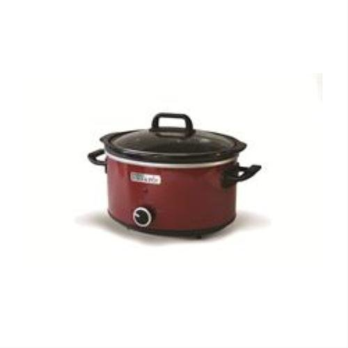 Crock-Pot 3.5L Red Hinged Lid Slow Cooker
